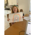 A beautiful rainbow by Isabella