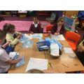 Making kites for our teddies...