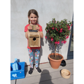 Isla made a beautiful bird house