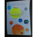 Ruby W's planets information leaflet