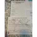 Isabella's Geography map work