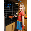 Millie making lasagne - yummy!