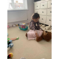 Daisy was looking after an injured teddy
