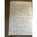 Harry's BIG write page 1