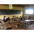 Grade 2 class with hardly any decent chairs left