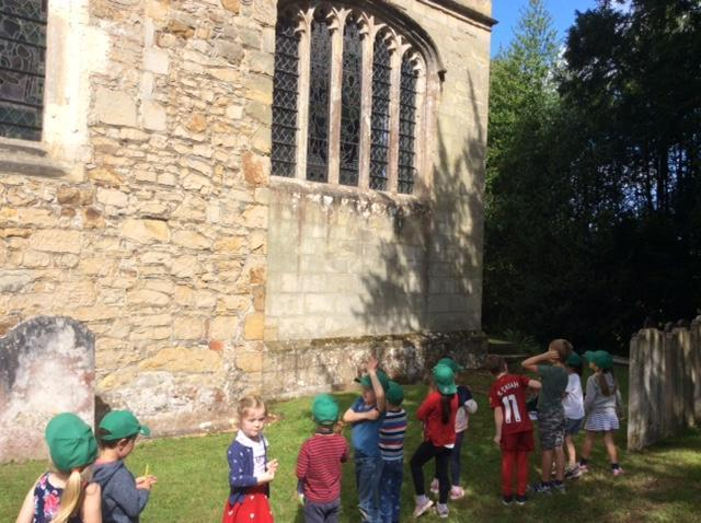 Looking at stained glass windows