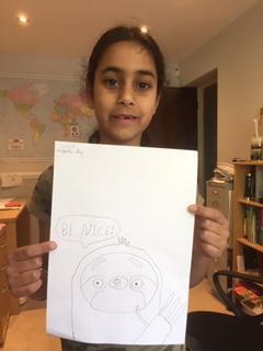Sitara (Year 3) - Empathy Day Art
