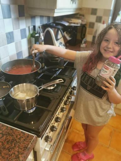 Natalia (Year 3) Cooking for her family