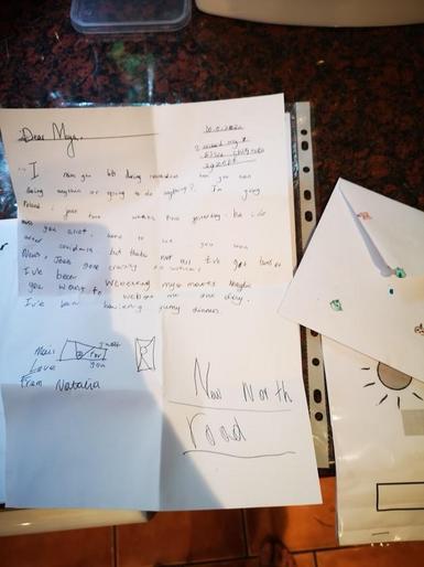 Natalia (Year 3 ) Letter writing