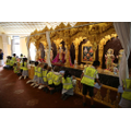 Helping to keep the Mandir clean and tidy
