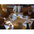 Making our Christmas robins!