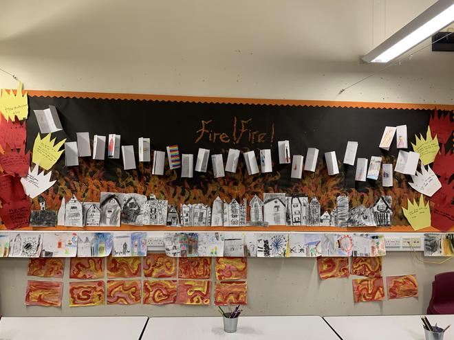 Our Great Fire of London Display board looked amazing! This topic was so much fun.