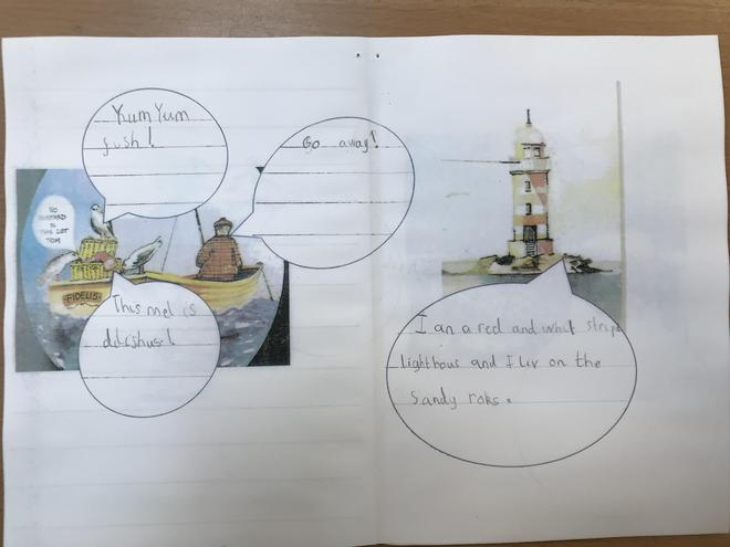 The Lighthouse Keeper's Lunch - Character Speech Bubbles