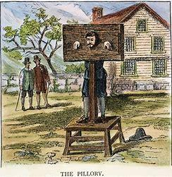Pillory was a common punishment in medieval times.