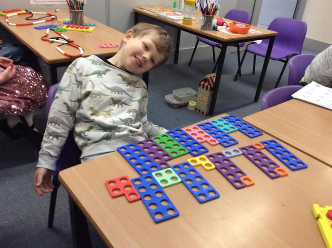 Representing numbers 10-20 in Numicon