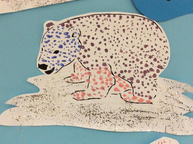 Pointillism: Arctic polar bear