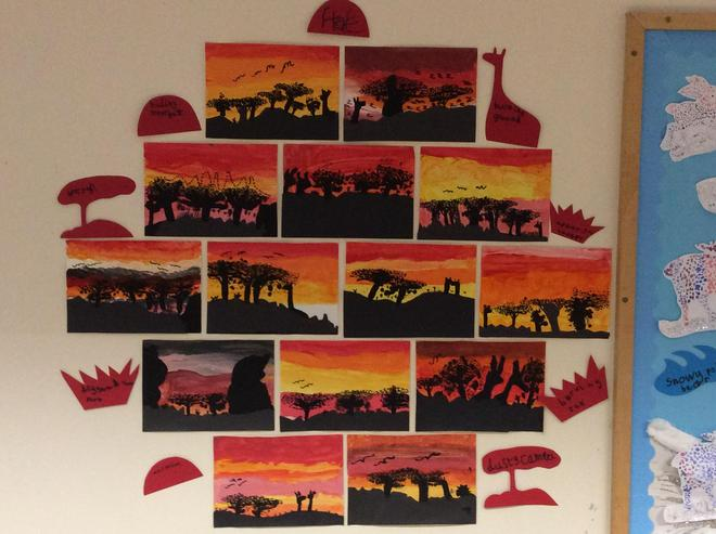 Depicting an African sunset