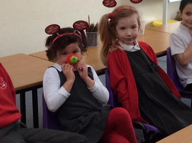 Red Nose Day hair and accessories