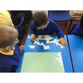100 Square puzzles