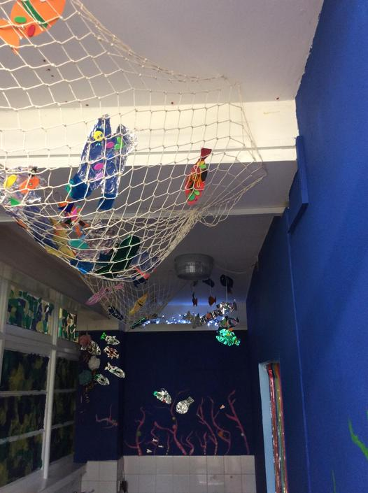 The underwater entrance to the sensory room!