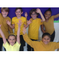 Pupils were invited to wear something yellow to bring attention to mental health issues