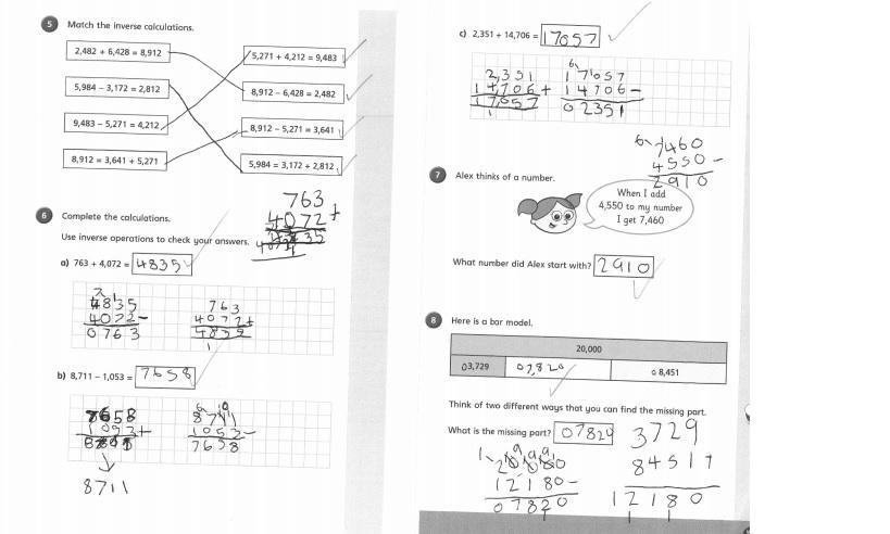 Impressive inverse calculation skills by Lara 4EH