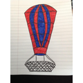 What an impressively detailed hot air balloon!