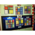Mondrian inspired artworks and colour mixing