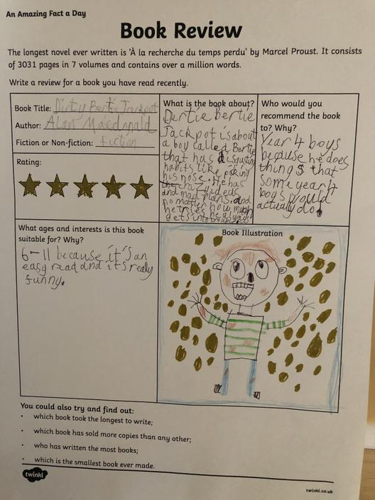 Finn's (4EH)  Brilliant Book Review!