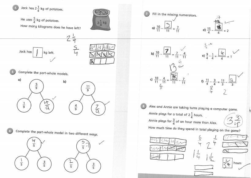 Lara 4EH: Solving fraction problems!