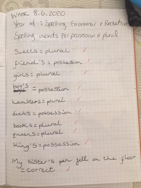 Super spellings Adriana! (4EH)