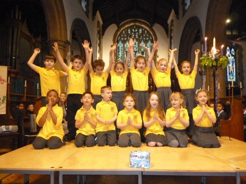 and the Yr2 choir