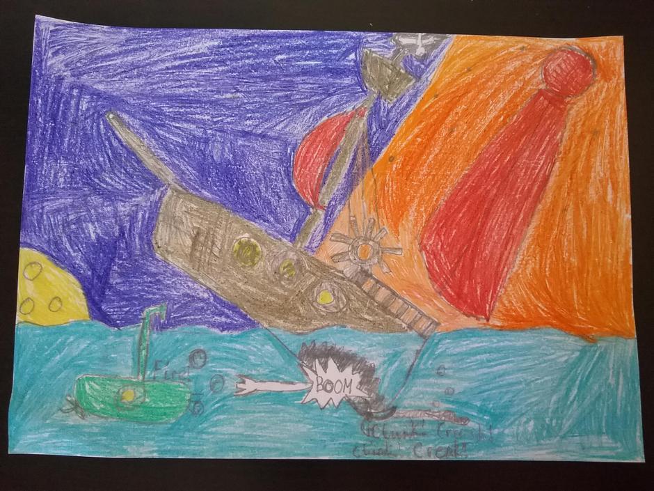 Shipwreck story illustration: George K 4EH