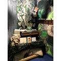 WW2 cloakroom display complete