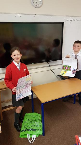Kacey created a poster on the Victorian classroom and Ollie created a Kaleidoscope.