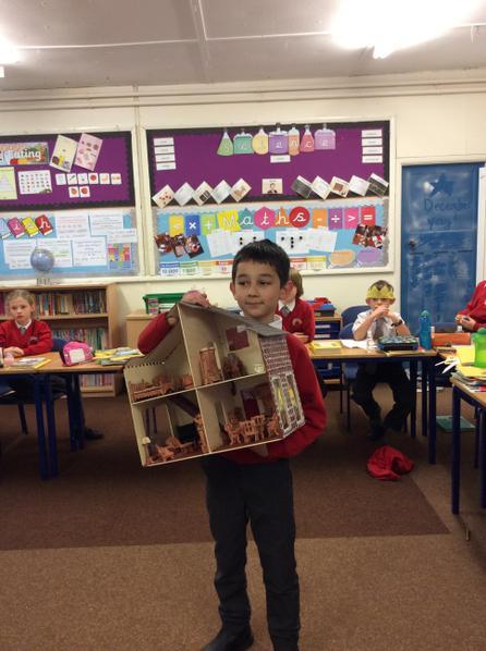 Matthias created a model of a Victorian home.
