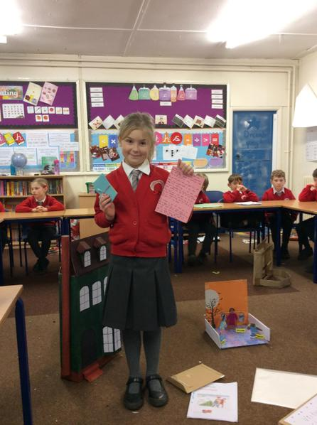 Emily researched what the Victorians ate and this inspired her to create her own.