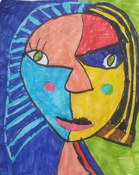 Picasso inspired self-portrait by Lottie