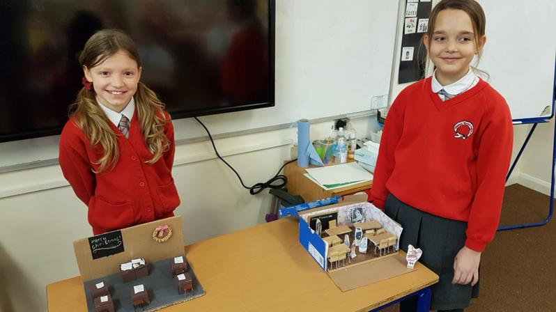Elsbeth and Eada created models of the Victorian classroom.