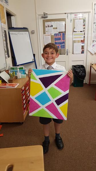 Archie was inspired to create a painting, very similar to pop art.