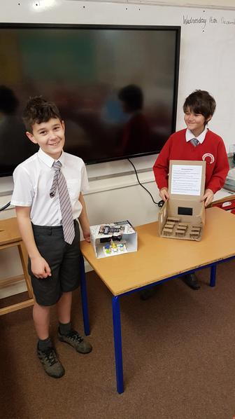 Damien and Edward both created models of Victorian Classrooms.