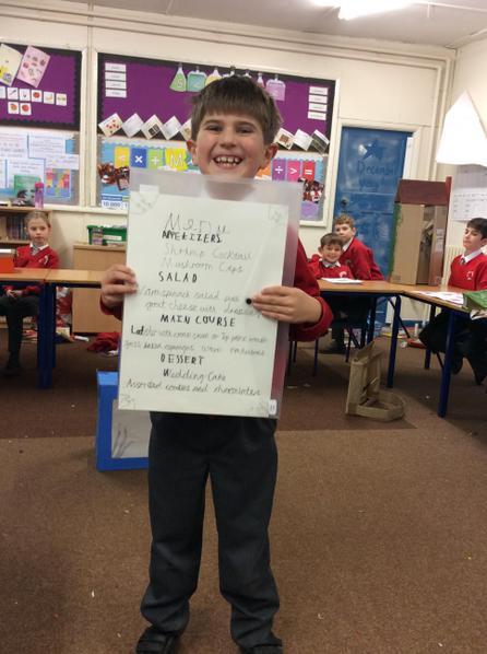 Alex created a menu!