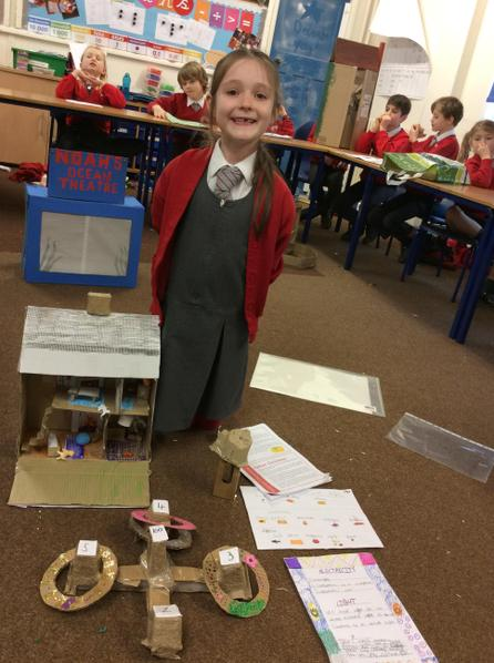 Lily created a model of a Victorian home, made a Victorian game and much more...