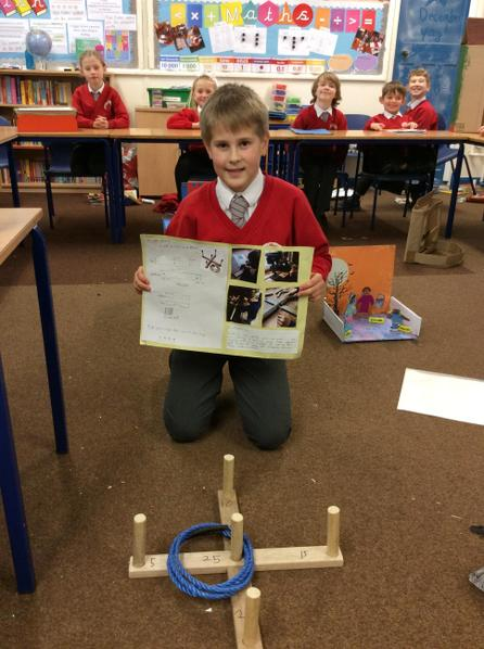 Finn designed and created an outdoor game for Victorian children to play.