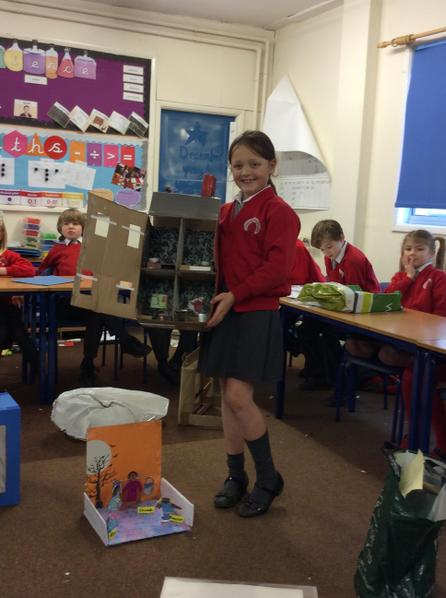 April created a model of a Victorian home.