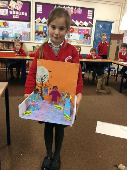 Elsa created a model to show how we are all unique and different.