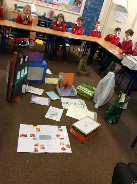 We spent an afternoon sharing our project homework.