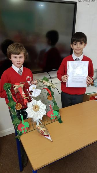 Roman created a fact sheet on Queen Victoria and Eric created Victorian Xmas decorations.