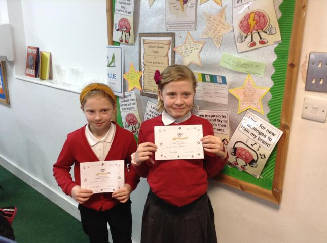 Congratulations girls for such fantastic writing!