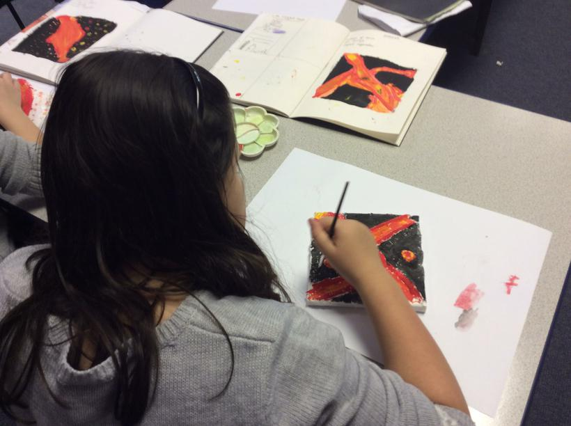 Using sketchbooks to help paint the reliefs